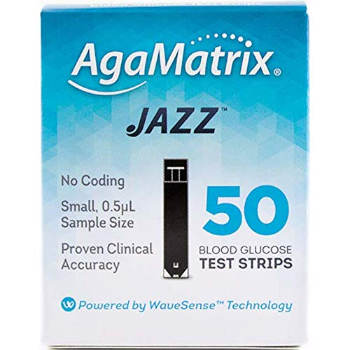 WaveSense JAZZ Test Strips - 50 Pack from AgaMatrix