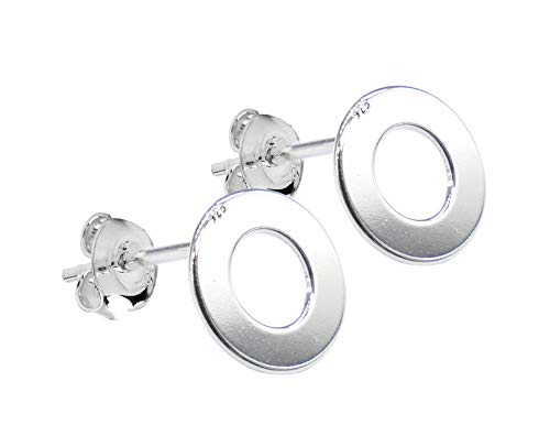 Ah! Jewellery® Ladies 8mm Sterling Silver Stud Earrings. Stamped 925. Appealing Open Circle Design. 10 Year Guarantee. from Ah! Jewellery