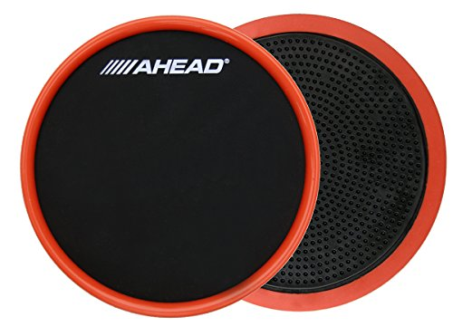 AHEAD ASHOPP Compact Stick On Practice Pad with Trim, Black/Red, 6-Inch from Ahead