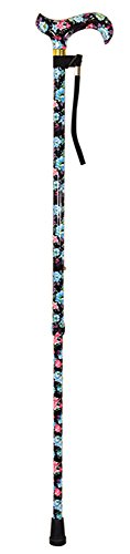 Aidapt Black Deluxe Patterned Walking Stick (Eligible for VAT relief in the UK) from Aidapt