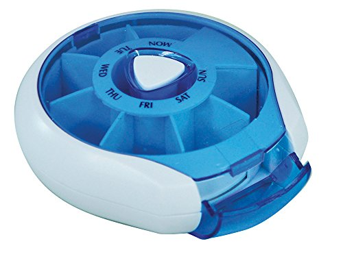 Aidapt  Compact Weekday Pill Dispenser Blue (Eligible for VAT relief in the UK) from Aidapt