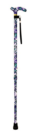 Aidapt Violet Deluxe Patterned Walking Stick (Eligible for VAT relief in the UK) from Aidapt