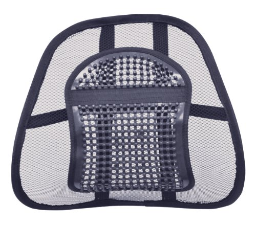 Air Flow Lumbar Support Cushion for Car Seat or Chair Back Rest from Aidapt