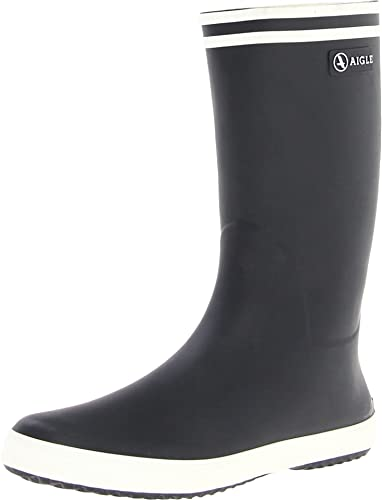 Aigle Unisex Kids' Lolly Pop Wellington Boots, Blue (Marine/Blanc), 4 UK from Aigle