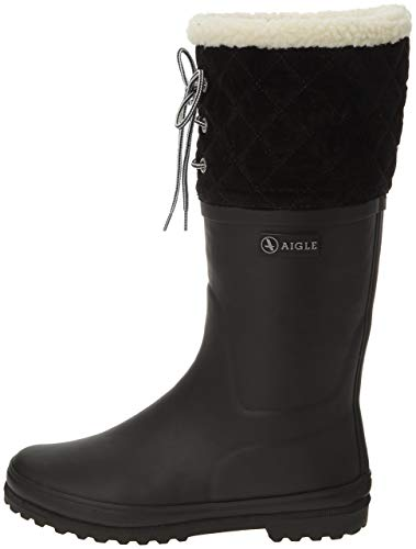 Aigle Women's Polka Giboulee Snow Boots, Black (New Black), 4 UK from Aigle