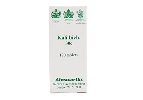 Ainsworths 30C Kali Bich Homoeopathic Remedy - Pack of 120 Tablets from Ainsworths