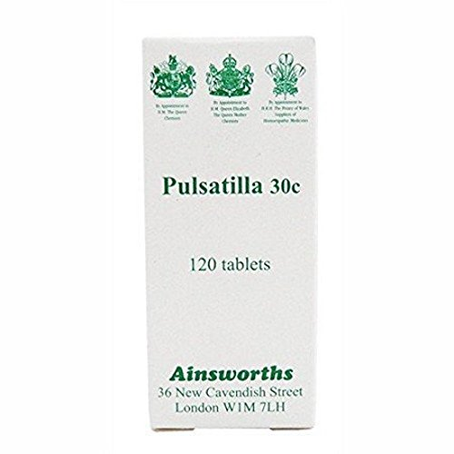 Ainsworths 30C Pulsatilla Homoeopathic Remedy - Pack of 120 Tablets from Ainsworths