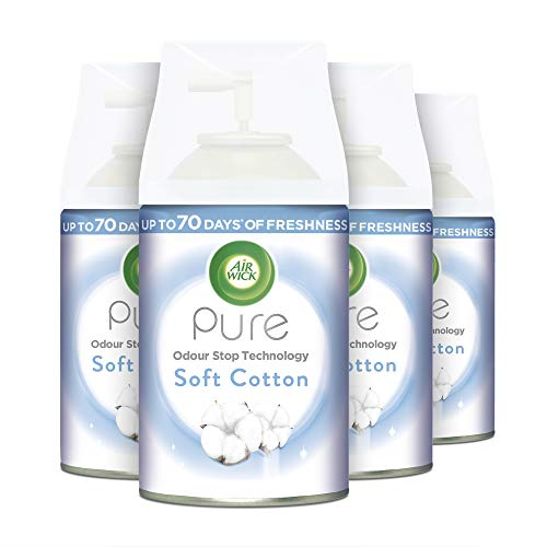 Airwick Soft Cotton Pure Freshmatic Max Refill, 250 ml, Pack of 4 from Airwick