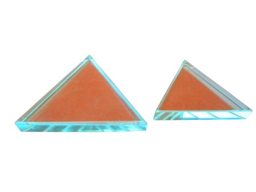Ajax Scientific LI230-0012 Acrylic Equilateral Prism, 25 mm Length x 25 mm Width x 25 mm Height x 12.5 mm Thick, Clear from Ajax Scientific