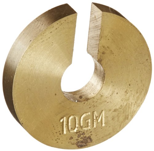 Ajax Scientific ME450-0010 Brass Slotted Weight, 10 g from Ajax Scientific