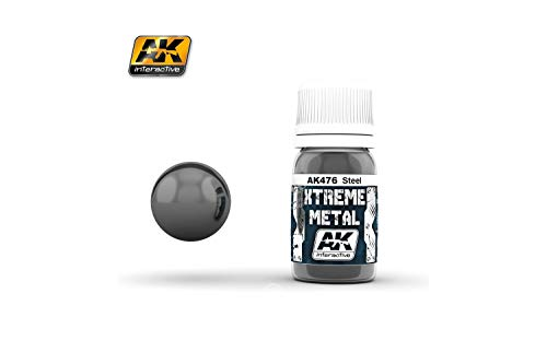 AK Interactive 30ml Extreme Metal Paints Steel # 476 from Ak interactive