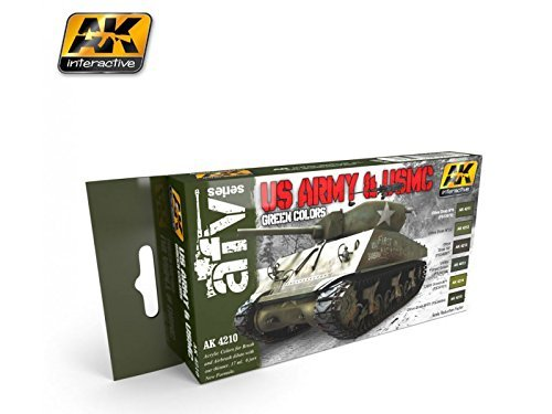 AK Interactive US Army & USMC Green Colors # 4210 from Ak interactive