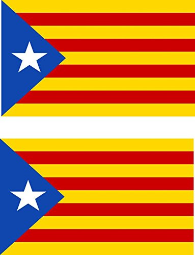 2x Independent Catalan Flag Car Stickers from Akacha