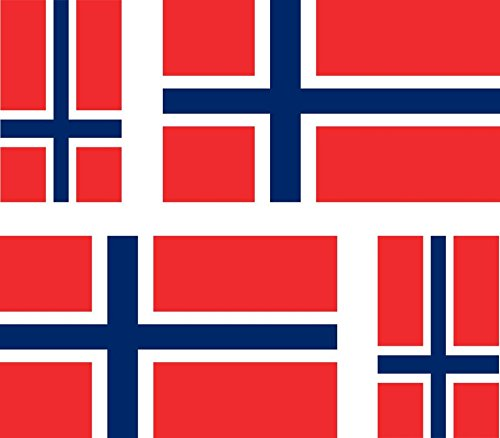 4 x Car Stickers Motorcycle Suitcase Norway Flag norvegie pc Laptop from Akacha