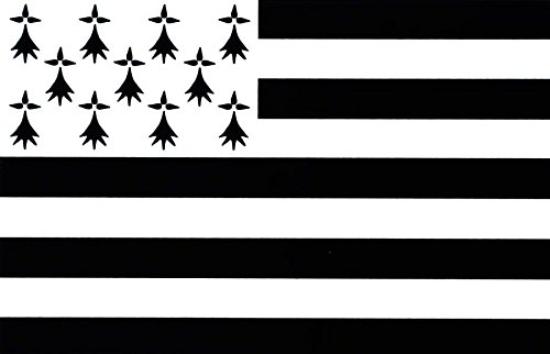 Decorative Self-Adhesive Vinyl Brittany Flag Sticker for Car Motorbike from Akacha