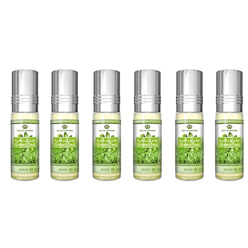 Green Tea Perfume Oil - 6 x 6ml by Al Rehab from Al Rehab