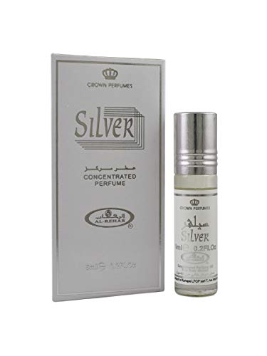 Silver Perfume Oil - 6 x 6ml by Al Rehab from Al Rehab
