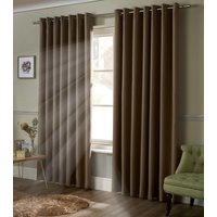 Blackout Ready Made Eyelet Curtains Beige from Alan Symonds