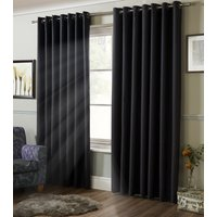 Blackout Ready Made Eyelet Curtains Charcoal from Alan Symonds