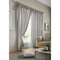 Cotswold Ready Made Lined Curtains Silver from Alan Symonds