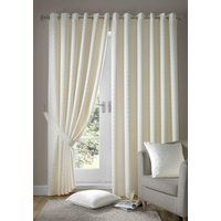 Madison Ready Made Lined Eyelet Curtains Cream from Alan Symonds