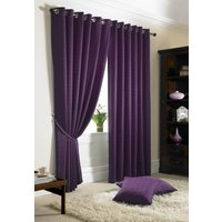 Madison Ready Made Lined Eyelet Curtains Purple from Alan Symonds