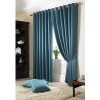 Madison Ready Made Lined Eyelet Curtains Teal from Alan Symonds