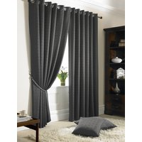 Madison Ready Made Lined Eyelet Curtains Charcoal from Alan Symonds