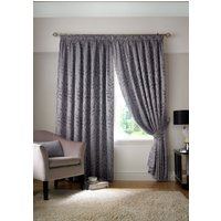 Tivoli Ready Made Lined Curtains Silver from Alan Symonds