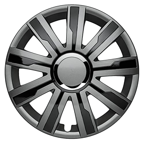 Albrecht Automotive 49626 Mirage Grey/Black Plus 16 inch wheel trims, 1 set from Albrecht
