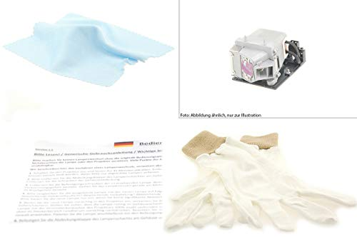 Projectorlamp installation set with CANON LX-LP01 original module, in bundle with Alda PQ cleaning cloth and installation gloves, suitable for CANON LX-MU700 projectors from Alda PQ Original - Projector Lamps