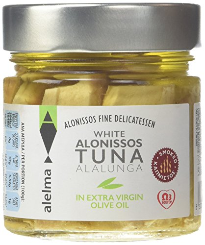 Alelma Smoked White Alalunga Alonissos Tuna in Extra Virgin Olive Oil 212 g from Alelma
