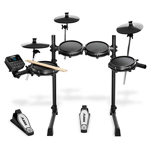 Alesis Drums Turbo Mesh Kit – Seven Piece Mesh Electric Drum Set With 100+ Sounds, 30 Play-Along Tracks, Drum Sticks & Connection Cables included from Alesis