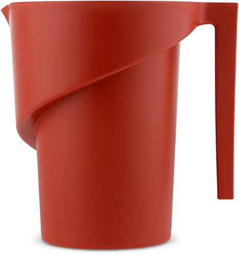 Alessi AGR01 R Twisted Measuring Jug Thermoplastic Resin, Red, 17.5 x 13.5 x 18 cm from Alessi