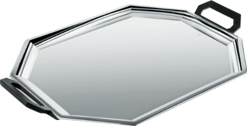 "Alessi"" Ottagonale Tray, Stainless Steel, Black from Alessi"