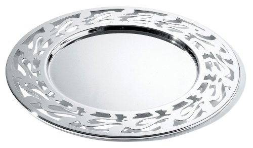 Alessi SG35 Ethno Plate Mat 33 Centimeter - 18/10 Stainless Steel Mirror Polished from Alessi