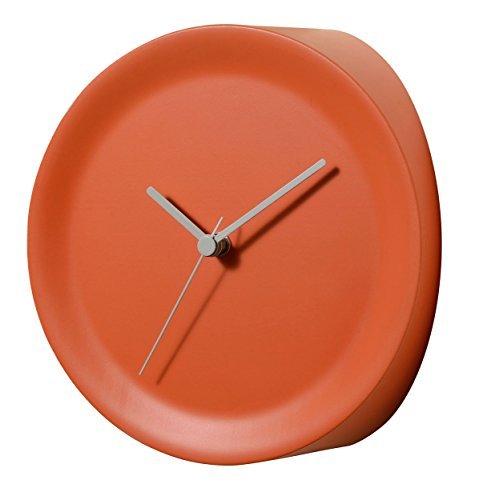 Alessi Ora in Corner Mounted Clock-Thermoplastic Resin, Orange, 21 x 21 x 13 cm from Alessi