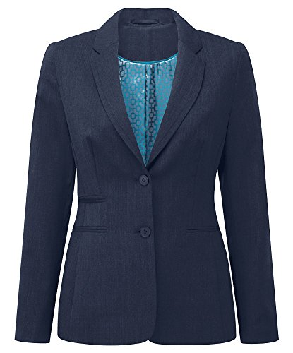 Alexandra Cadenza STC-NF701NA-22S Women's Two Button Jacket, Plain, Short, 54% Polyester/44% Wool/2% Elastane, Size: 22, Navy from Alexandra Cadenza