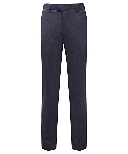 Alexandra Cadenza STC-NM703NA-40T Men's Slim Fit Trouser, 54% Polyester/44% Wool/2% Elastane, Plain, Tall, Size: 40, Navy from Alexandra Cadenza
