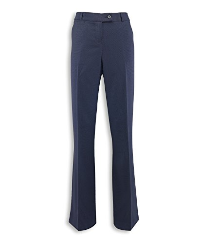 Alexandra Icona STC-NF13NA-20R Women's Bootleg Trouser, Plain, 77% Polyester/21% Viscose/2% Elastane, Regular, Size 20, Navy from Alexandra Icona