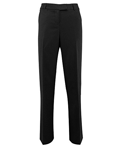 Alexandra Icona STC-NF69BK-22T Straight Leg Trouser, Plain, Tall, 77% Polyester/21% Viscose/2% Elastane, Size: 22, Black from Alexandra Icona