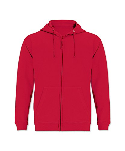 Alexandra STC-JH50FR-L Zip Up Hoodie, 80% Cotton/20% Polyester, Plain, Size: Large, Fire Red from Alexandra