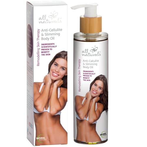 All Naturals Cellulite, Slimming Body Oil. ORGANIC, Intensive Body Shaper Accelerate Fat Loss with Caffeine, Microalgae, Herbal Extracts, Andiroba Oil, 200ml from All Naturals