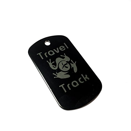 AllCachedUp Trackable Tag for Geocaching - Travel Track Tag - trackable like a Travel Bug (BLACK) from AllCachedUp