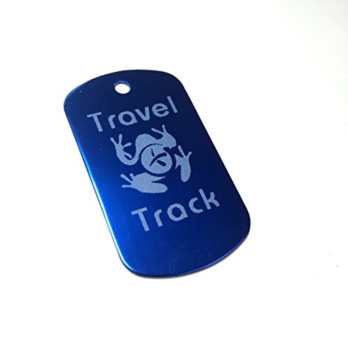 AllCachedUp Trackable Tag for Geocaching - Travel Track Tag - trackable like a Travel Bug (BLUE) from AllCachedUp