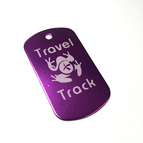AllCachedUp Trackable Tag for Geocaching - Travel Track Tag - trackable like a Travel Bug (PURPLE) from AllCachedUp