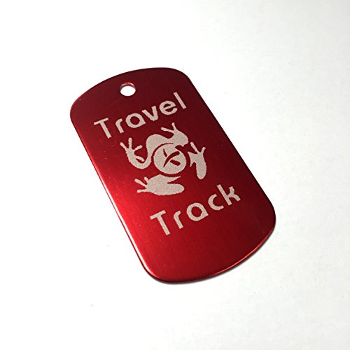 AllCachedUp Trackable Tag for Geocaching - Travel Track Tag - trackable like a Travel Bug (RED) from AllCachedUp