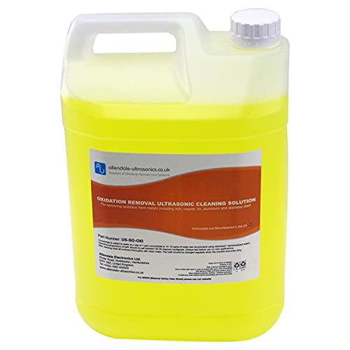 Oxidation and Rust Removal Ultrasonic Cleaner Solution - 5 Litre Cleaning Fluid from Allendale Ultrasonics