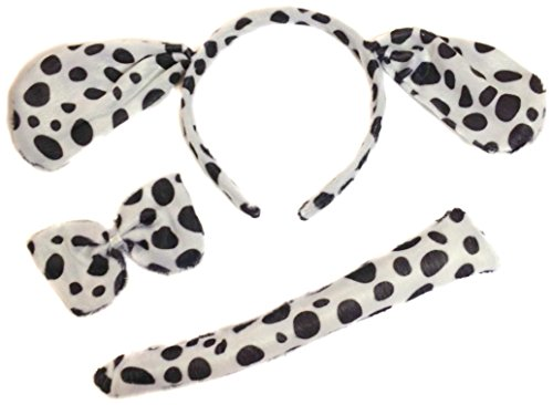 Allsorts® Dalmation Fancy Dress Dog Outfit Dressing Up Dog Set Instant Kit Animal Dressing Up Costume from Allsorts®