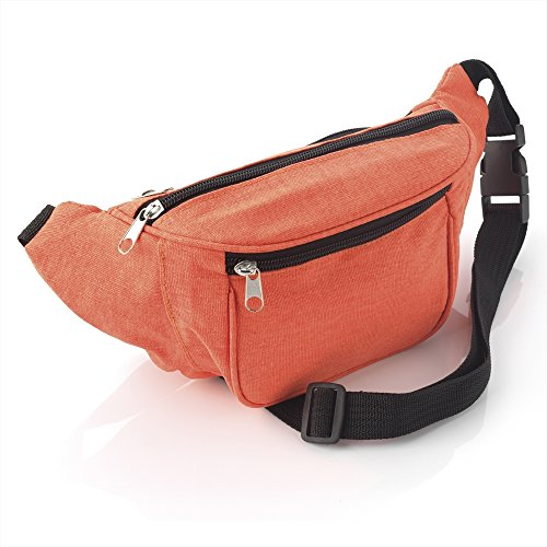 Allsorts® Neon Orange Print Bum Bag / Fanny Pack - Festivals /Club Wear/ Holiday Wear from Allsorts®